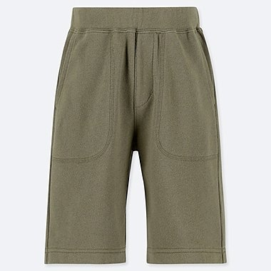 BOYS JERSEY EASY SHORTS, OLIVE, medium
