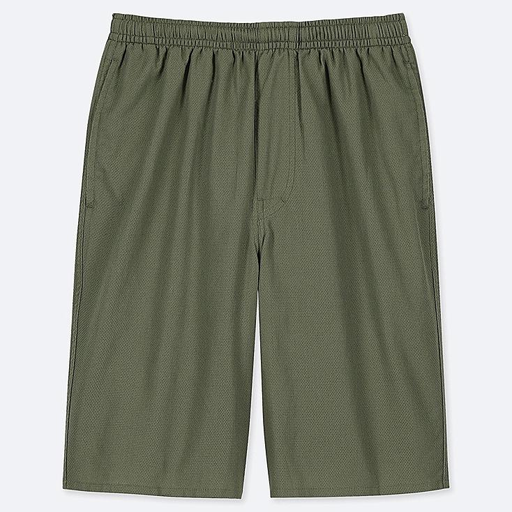 MEN LIGHT COTTON EASY SHORTS (ONLINE EXCLUSIVE), OLIVE, large
