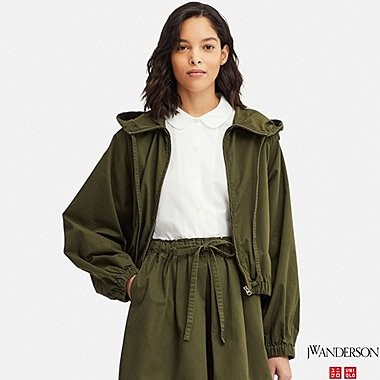 WOMEN DOLMAN SLEEVE PARKA (JW Anderson), OLIVE, medium
