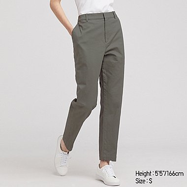 WOMEN EZY CHINO ANKLE-LENGTH PANTS, OLIVE, medium