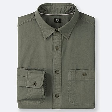 MEN WORK LONG-SLEEVE SHIRT (ONLINE EXCLUSIVE), OLIVE, medium