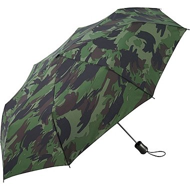 Compact Patterned Umbrella, OLIVE, medium