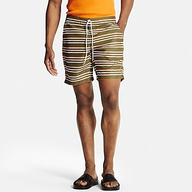 Mens Swim Shorts, OLIVE, medium
