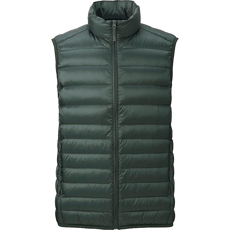 MEN ULTRA LIGHT DOWN VEST, OLIVE, large