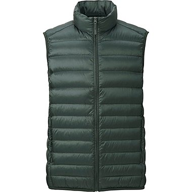 MEN ULTRA LIGHT DOWN VEST, OLIVE, medium