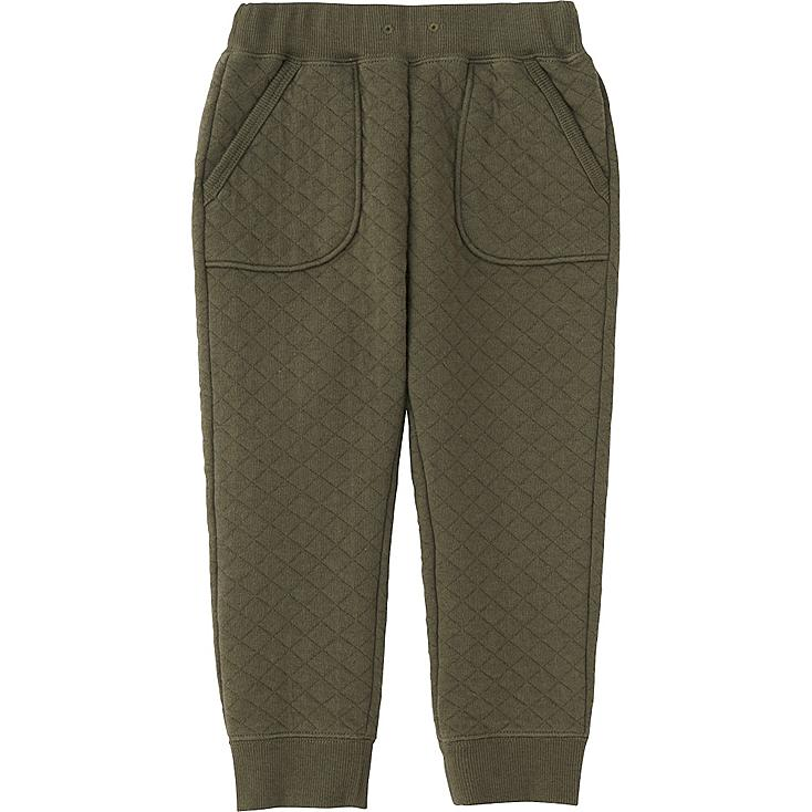 TODDLER QUILTED PANTS, OLIVE, large