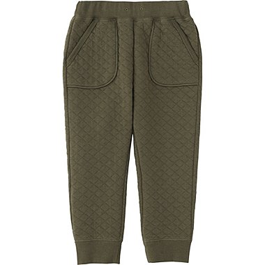 TODDLER QUILTED PANTS, OLIVE, medium