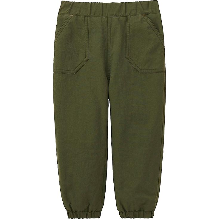 TODDLER WARM-LINED PANTS, OLIVE, large