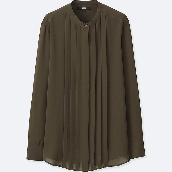 WOMEN GEORGETTE LONG SLEEVE BLOUSE | UNIQLO US