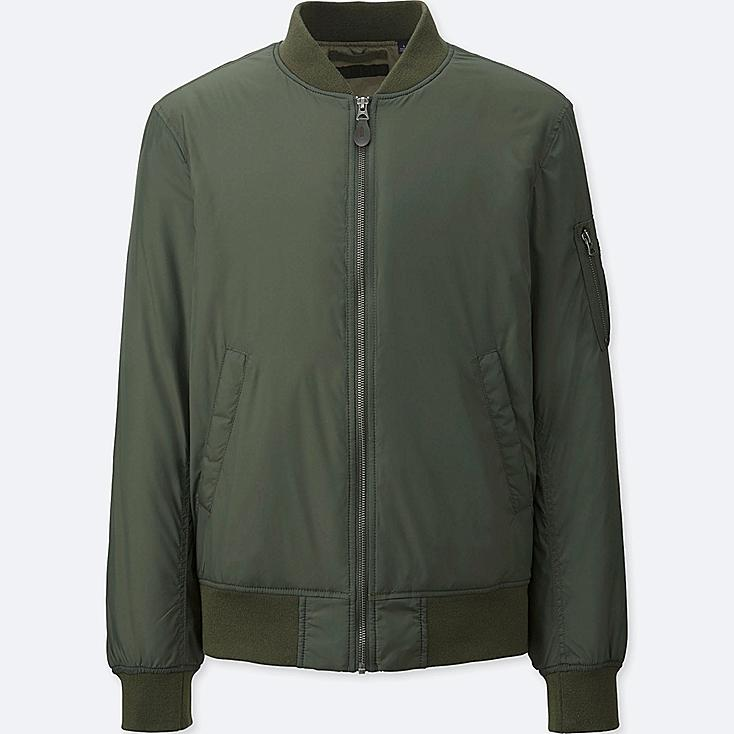 MEN MA-1 BOMBER JACKET, OLIVE, large
