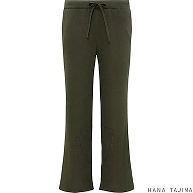 Womens Relaxed Fit Ankle Pants, OLIVE, medium
