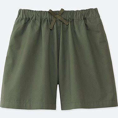GIRLS EASY FLARE SHORTS, OLIVE, medium