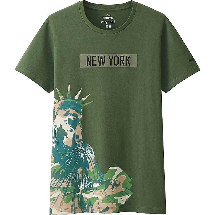 MEN SPRZ NY A.WARHOL SHORT SLEEVE GRAPHIC T-SHIRT, OLIVE, large