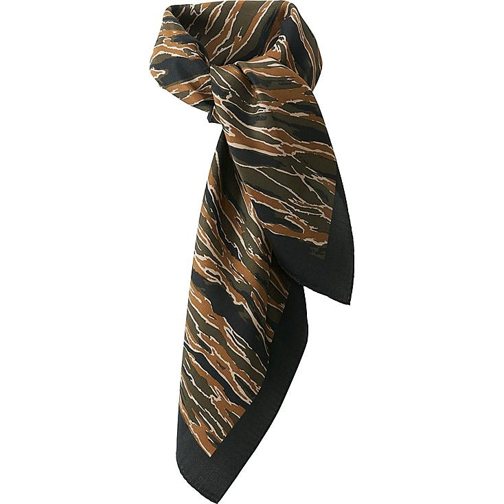 WOMEN CARINE SILK SCARF, OLIVE, large