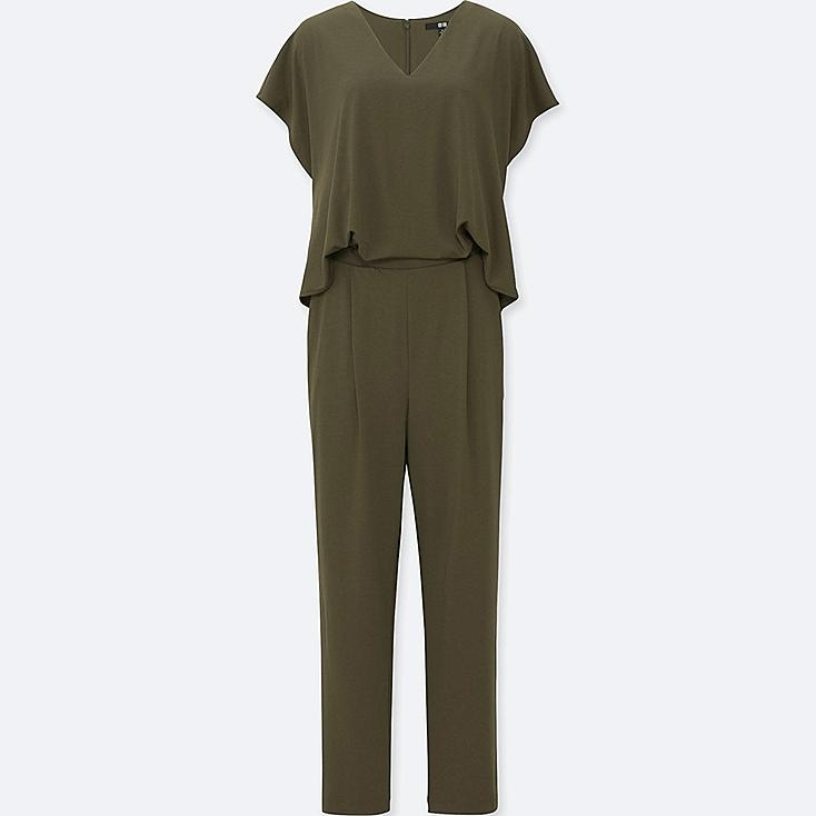 WOMEN JERSEY SHORT-SLEEVE JUMPSUIT | UNIQLO US