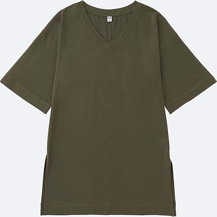 Women V Neck Wide Half Sleeve Long T Shirt Uniqlo Us