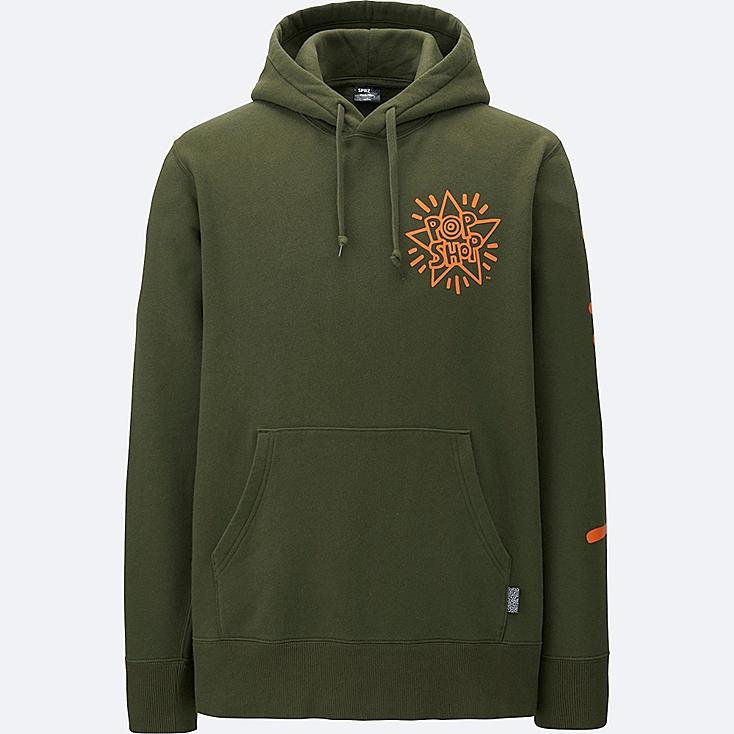 MEN SPRZ NY SWEAT PULLOVER HOODIE, OLIVE, large