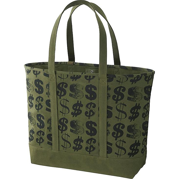 SPRZ NY TOTE BAG (ANDY WARHOL), OLIVE, large