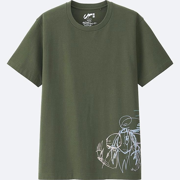 Expressionist FUTURA GRAPHIC T-SHIRT, OLIVE, large