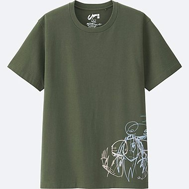 Expressionist FUTURA GRAPHIC T-SHIRT, OLIVE, medium