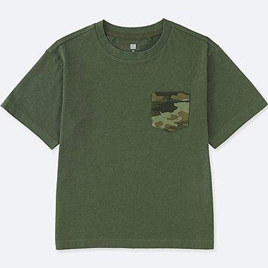 BOYS Pocket Crew Neck Short Sleeve T-Shirt