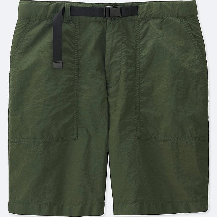 Relaxed Utility Shorts, OLIVE, large