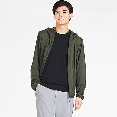 MEN POCKETABLE PARKA, OLIVE, medium