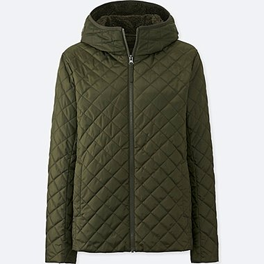 WOMEN PILE-LINED FLEECE PARKA, OLIVE, medium