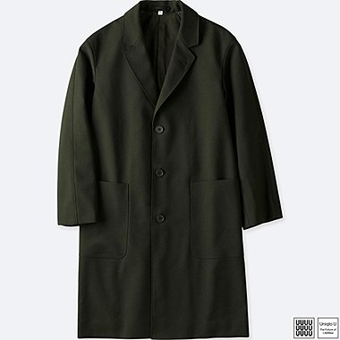 MEN U WOOL-BLEND CHESTERFIELD COAT, OLIVE, medium