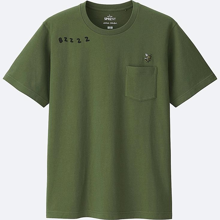 MEN SPRZ NY Short Sleeve Graphic T-Shirt (JASON POLAN), OLIVE, large