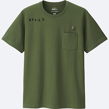 MEN SPRZ NY Short Sleeve Graphic T-Shirt (JASON POLAN), OLIVE, medium