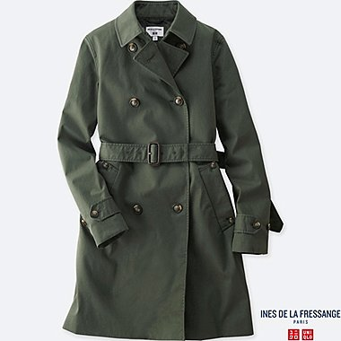 WOMEN INES COTTON TWILL TRENCH COAT
