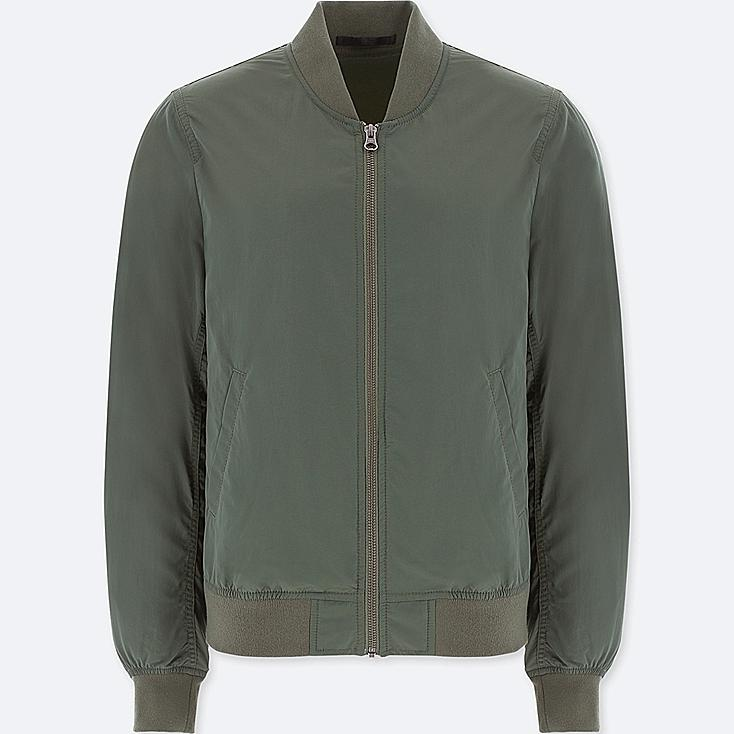 WOMEN BOMBER JACKET, OLIVE, large