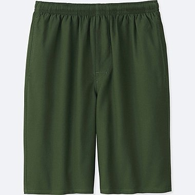 MEN LIGHT COTTON EASY SHORTS, OLIVE, medium