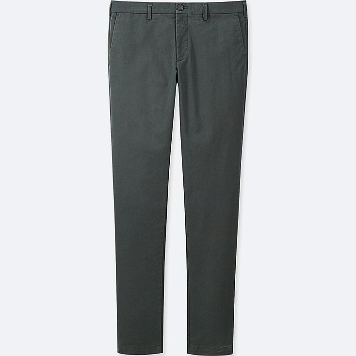 MEN SLIM-FIT CHINO FLAT-FRONT PANTS, OLIVE, large