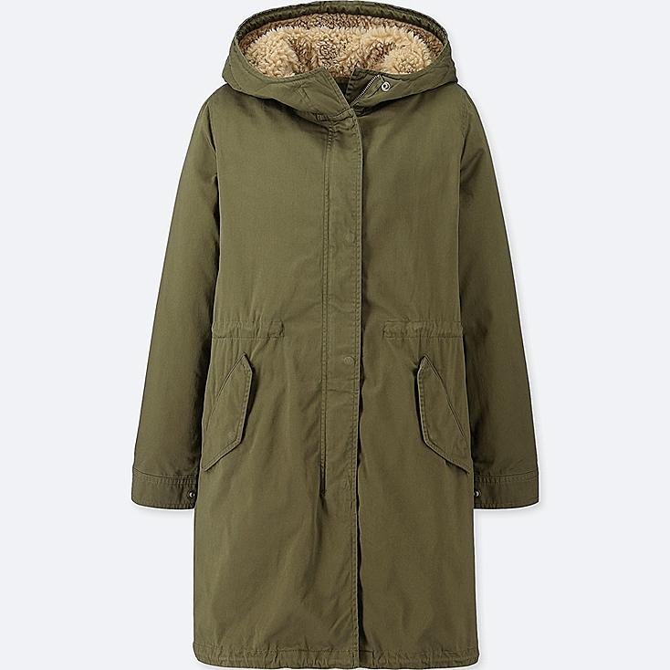 WOMEN MODS COAT, OLIVE, large