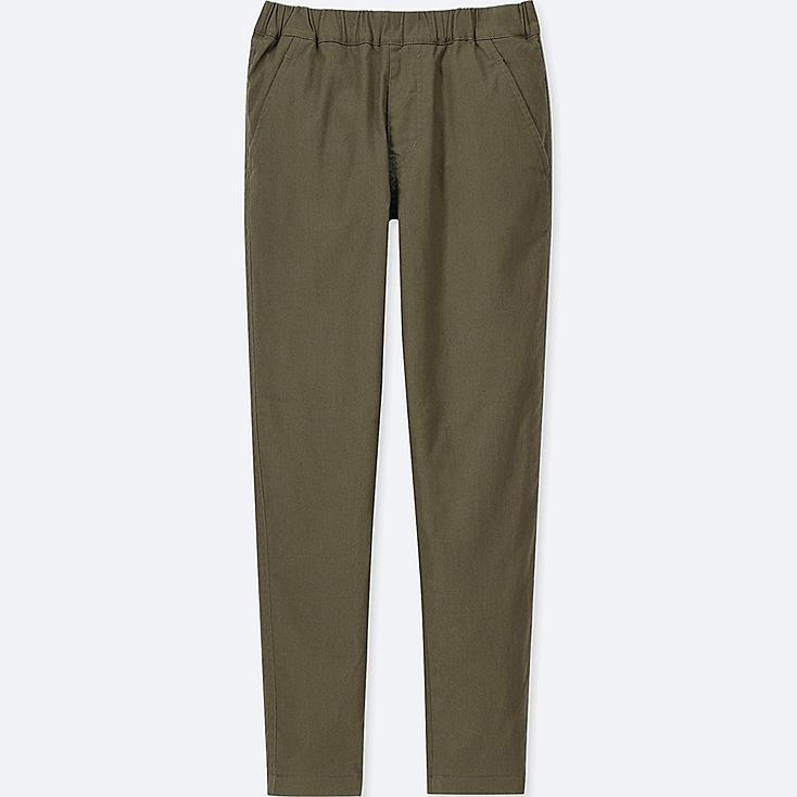 KIDS STRETCH WARM-LINED PANTS, OLIVE, large