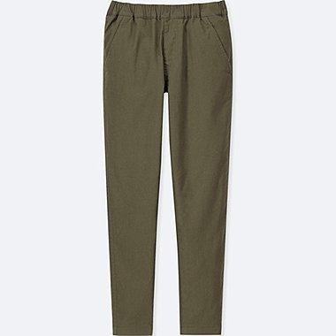 KIDS STRETCH WARM-LINED PANTS, OLIVE, medium