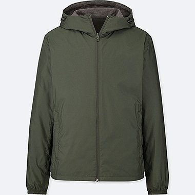 MEN HOODED REVERSIBLE POCKETABLE PARKA