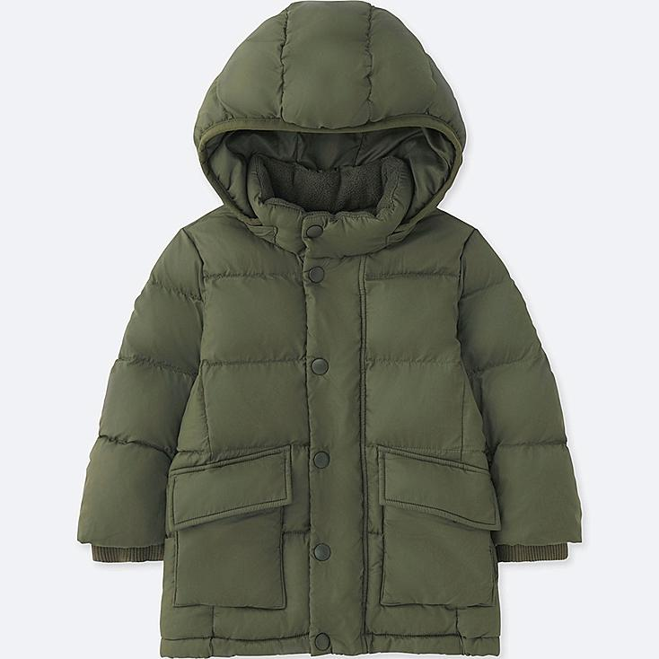 TODDLER WARM PADDED COAT, OLIVE, large