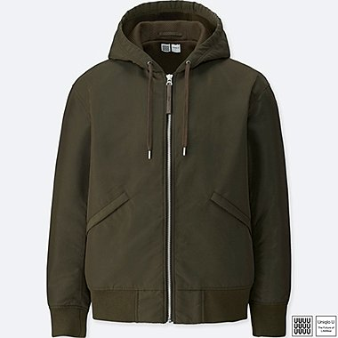 MEN U MILITARY HOODED BLOUSON, OLIVE, medium