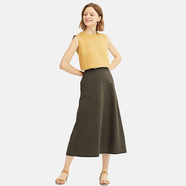c7e712e976 WOMEN LINEN COTTON LONG SKIRT