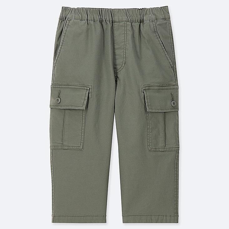 BOYS CARGO CROPPED PANTS, OLIVE, large