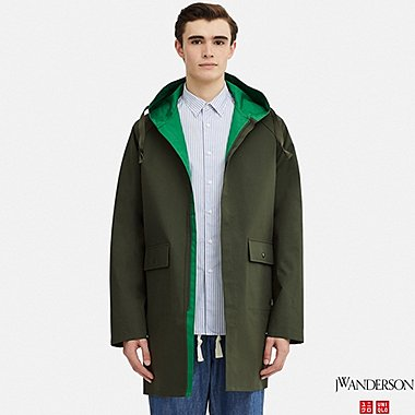 MEN REVERSIBLE HOODED COAT (JW Anderson), OLIVE, medium
