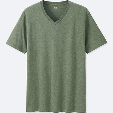 Men Supima® Cotton V-Neck T-Shirt, DARK GREEN, medium