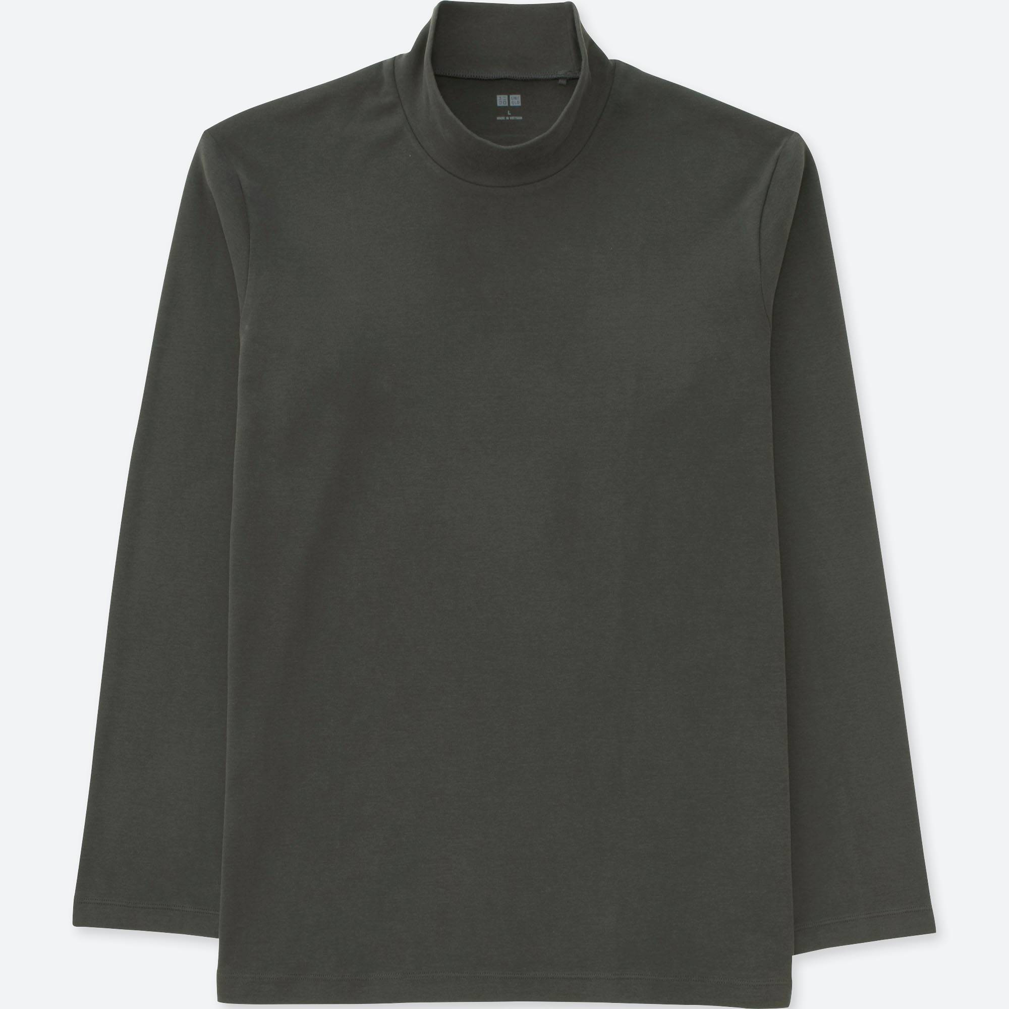 MEN SOFT TOUCH MOCK NECK LONG SLEEVE T-SHIRT | UNIQLO US