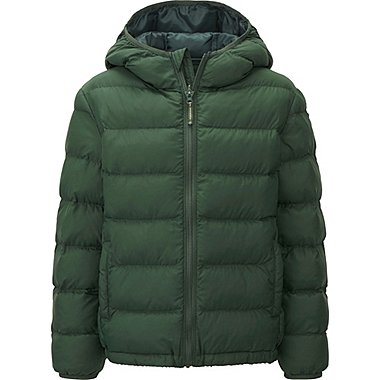 BOYS Lightweight Padded Parka, DARK GREEN, medium