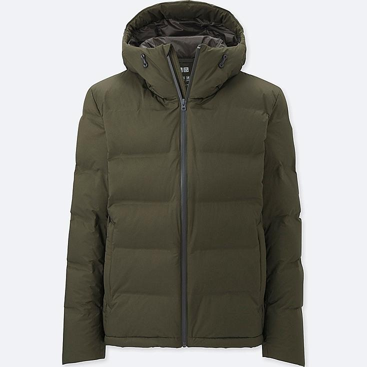 MEN SEAMLESS DOWN PARKA, DARK GREEN, large
