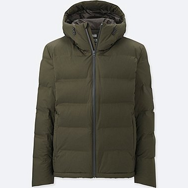 MEN SEAMLESS DOWN PARKA, DARK GREEN, medium
