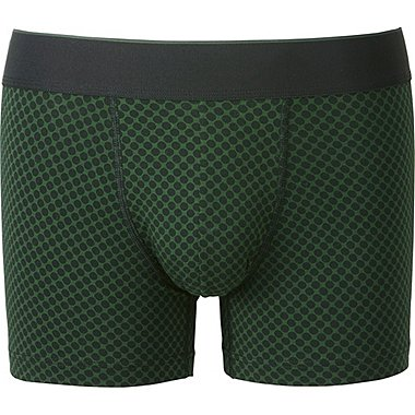 MEN SUPIMA COTTON BOXER BRIEFS (LOW RISE), DARK GREEN, medium